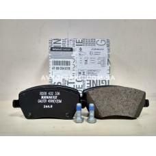 Колодки тормозные передние Renault Dokker, Renault Lodgy (2013-...) Оригинал 410608481R
