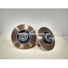 Диски тормозные не вентилируемые задние Renault Megane 3, Renault Fluence Оригинал 432007556R (комплект 2 шт.)