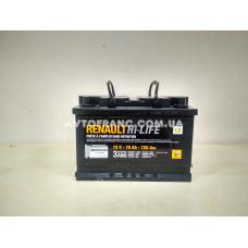 Аккумуляторная батарея 70 Ah 720 A Renault Оригинал 7711238598